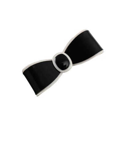 Cellulose Acetate Minimalist Bowknot Alloy Hair Barrette