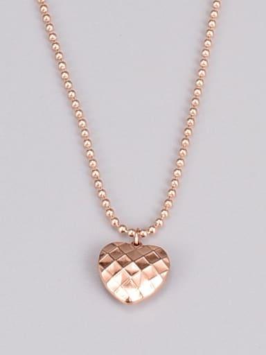Titanium Steel Heart Minimalist Bead Chain Necklace