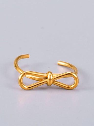 Titanium Steel Butterfly Knot Minimalist Midi Ring