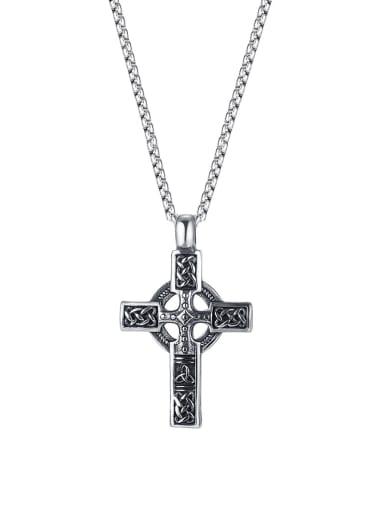2005 [pendant chain 4*70cm] Titanium Steel Vintage Cross Pendant