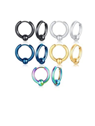 Stainless steel Enamel Round Minimalist Huggie Earring