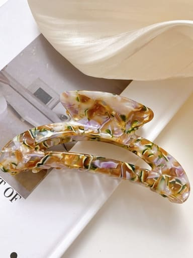 Pattern green brown 10.5cm Cellulose Acetate Minimalist Geometric Alloy Multi Color Jaw Hair Claw
