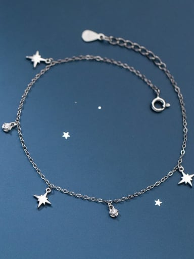 925 Sterling Silver Star Minimalist Anklet