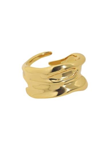Jb096 [Korean K gold] 925 Sterling Silver Irregular Vintage Band Ring