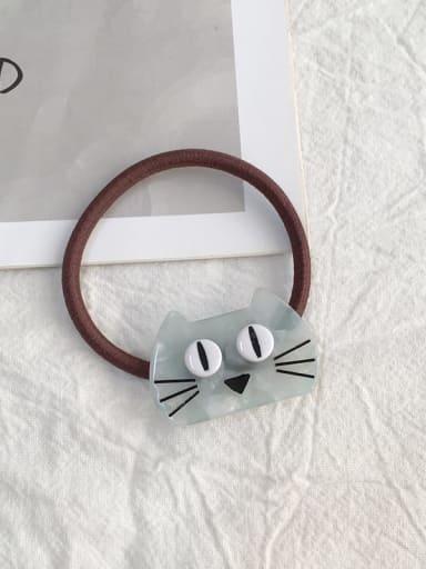 Big eyed cat fresh green Cellulose Acetate Cute Cat Hair Rope