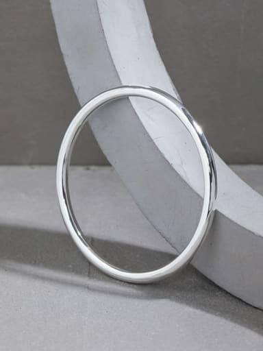 925 Sterling Silver Round Minimalist Band Bangle