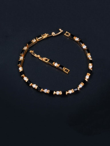 black Copper With Gold Plated Fashion Geometric Bracelets