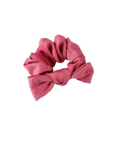 B red Ribbon bow headband tied hair hair band