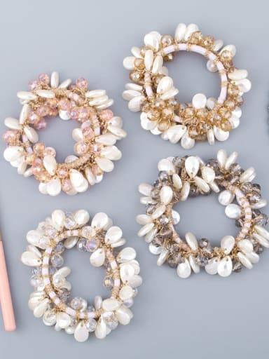 Alloy Imitation Pearl Bohemia Geometric Hair Rope
