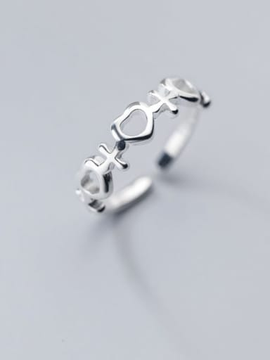 925 Sterling Silver Heart Minimalist Band Ring