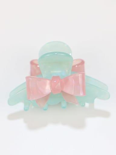 Mint Green Cellulose Acetate Minimalist Irregular Zinc Alloy Jaw Hair Claw