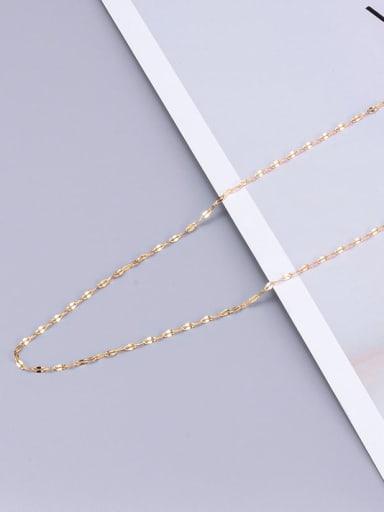 Lip Chain Gold L22 Titanium Minimalist Twisted Serpentine Chain
