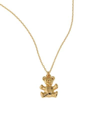 dark gold 925 Sterling Silver Monkey Vintage Necklace