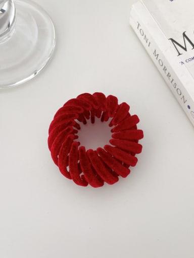 Wine red 4.5cm Trend Geometric Resin Hair Rope