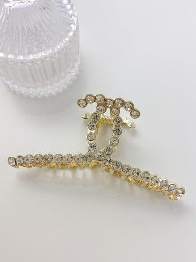 Water drill 11.2cm Alloy Imitation Pearl Minimalist Geometric  Jaw Hair Claw