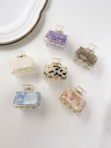 Cellulose Acetate Minimalist Square Alloy Multi Color Jaw Hair Claw