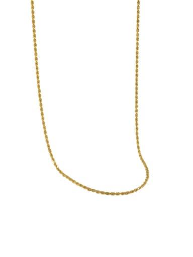 golden 925 Sterling Silver Round Minimalist Necklace