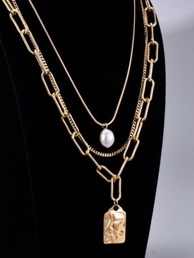 Titanium Geometric Bohemia Multi Strand Necklace