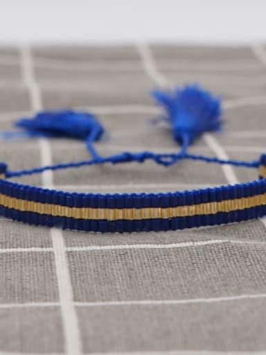 MG B180009D Multi Color MGB Bead Geometric Bohemia Handmade Weave Bracelet