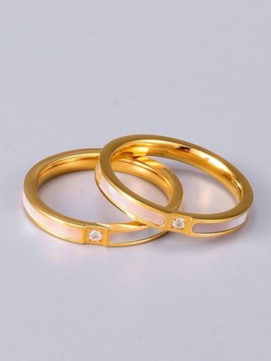 Titanium Shell Round Minimalist Band Ring