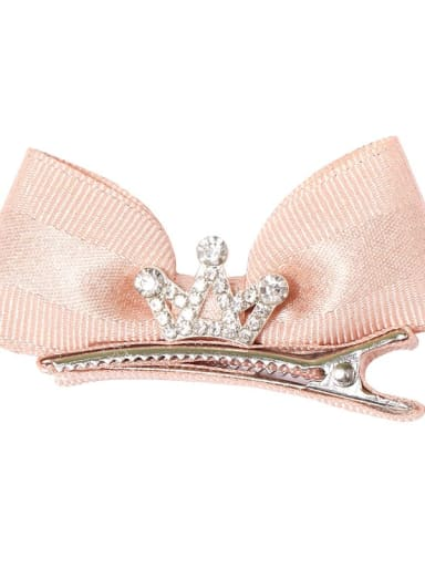 3 champagne pink Alloy Fabric Minimalist Bowknot  Multi Color Hair Barrette
