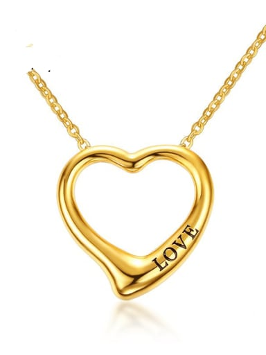 Stainless steel Hollow Heart Minimalist Necklace