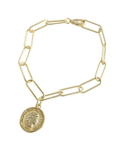 925 Sterling Silver Round Minimalist Link Bracelet