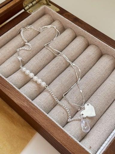 925 Sterling Silver Irregular Minimalist Multi Strand Necklace
