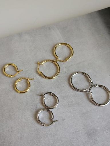 925 Sterling Silver Holllow Round Minimalist Hoop Earring