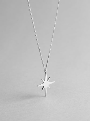 925 Sterling Silver Star Minimalist Long Strand Necklace
