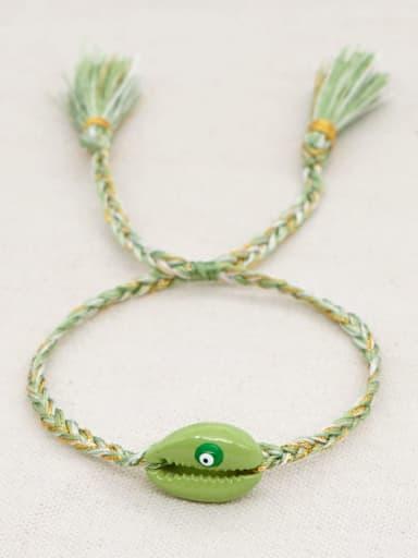 B B200060C Multi Color Polymer Clay Irregular Bohemia Handmade Weave Bracelet