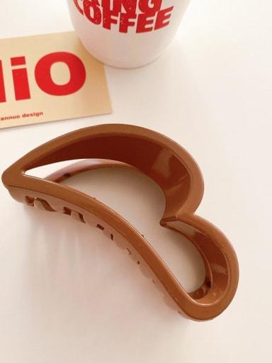 Brown 10cm Alloy  Acrylic Minimalist Geometric Jaw Hair Claw