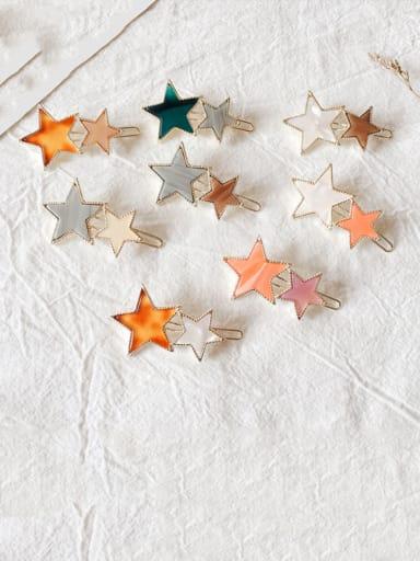 Alloy Cellulose Acetate Minimalist Star  Hair Pin