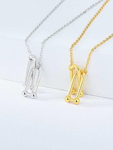 925 Sterling Silver Geometric Minimalist Necklace