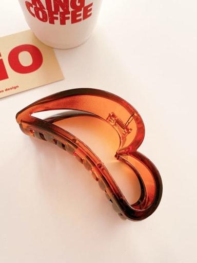 Caramel 10cm Alloy  Acrylic Minimalist Geometric Jaw Hair Claw