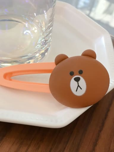 Brown bear Alloy Resin Bear Bunny Dinosaur Fruit Cartoon Clip BB Clip