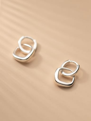 925 Sterling Silver Geometric Minimalist Drop Earring