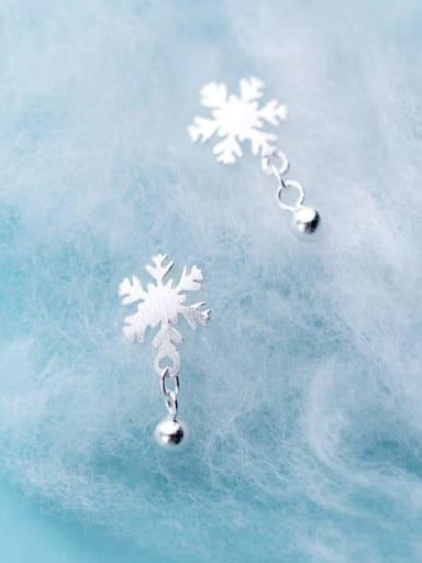 925 Sterling Silver Flower Minimalist Drop Earring