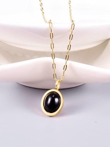 Titanium Carnelian Oval Minimalist pendant Necklace