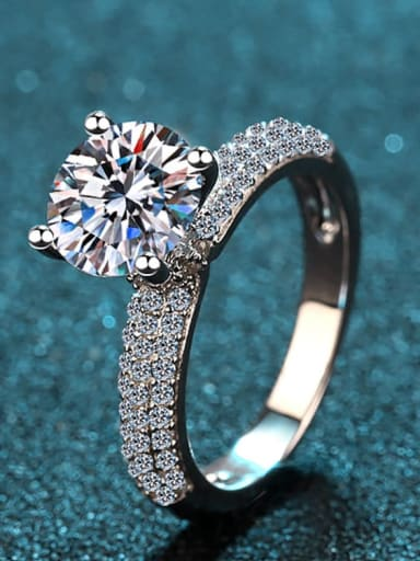 Sterling Silver Moissanite White Clover Dainty Engagement Rings