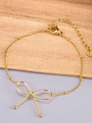 Titanium Steel Butterfly Minimalist Link Bracelet