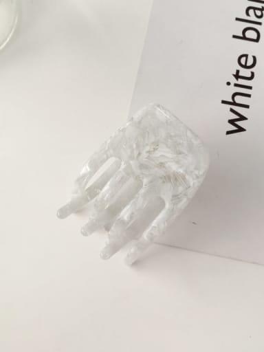 Spray white Cellulose Acetate Minimalist Geometric Alloy Jaw Hair Claw