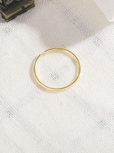 gold 925 Sterling Silver Line Geometric Minimalist Stackable Ring