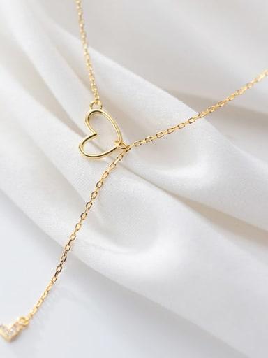 925 Sterling Silver Tassel Minimalist Tassel Necklace