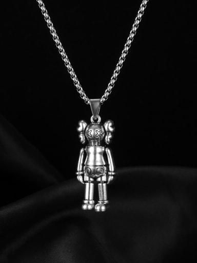 Alloy Irregular Hip Hop Punk Doll Pendant Necklace