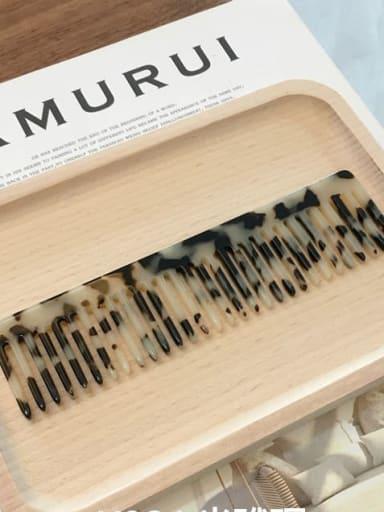 K034m hawksbill Cellulose Acetate Minimalist Geometric Hair Comb