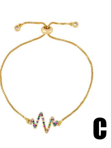 brb94 C Brass Cubic Zirconia Turtle Cute Link Bracelet