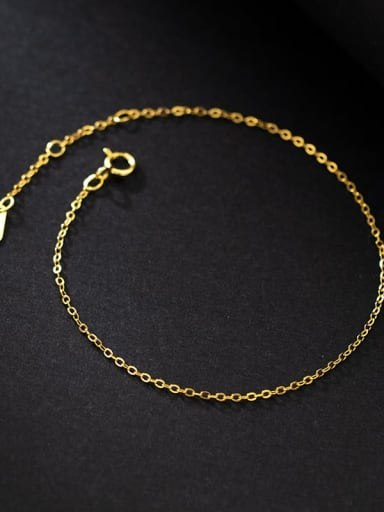 gold 925 Sterling Silver Irregular Minimalist Link Bracelet