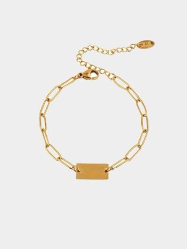 Stainless steel Geometric Minimalist Link Bracelet