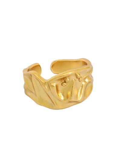 18K gold [14 adjustable] 925 Sterling Silver Smooth Irregular Vintage Band Ring